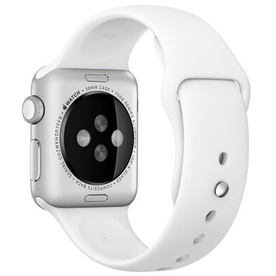 Ремешок Apple WATCH 42mm White Sport Band - M/L & L/XL