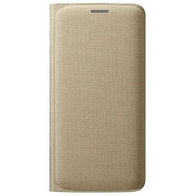 Чехол-книжка Samsung Galaxy S6 Edge Flip Wallet (золотой)