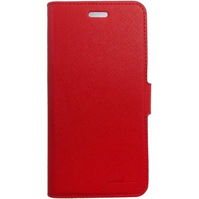 Чехол-книжка Gosh Venetta Faux для iPhone 6/6s (красно-серый)
