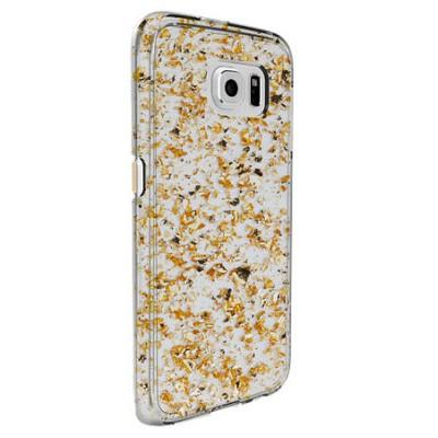 Чехол-накладка CM для Samsung S6 Karat (прозрачно-золотой)