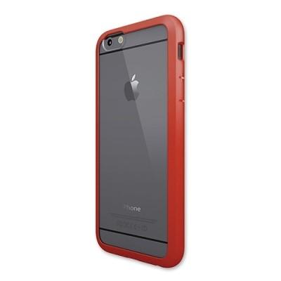 Чехол-накладка Colorant для iPhone 6/6S С1 Soft Clear (красный)