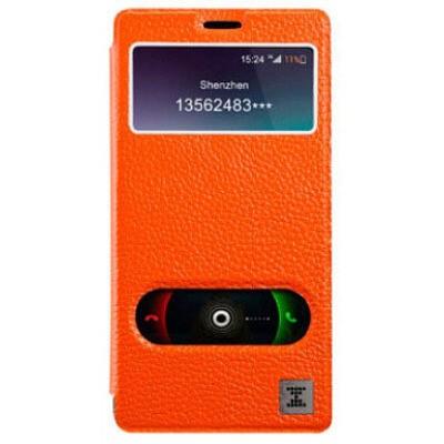 Буклет Xoomz для Xiaomi Redmi Note Litchi Pattern (оранжевий)