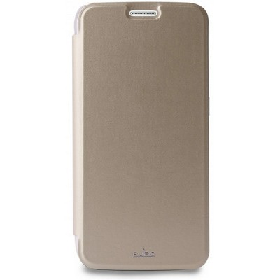 Чехол-книжка Puro для Galaxy S6 Edge ECO-LEATHER (золотой)
