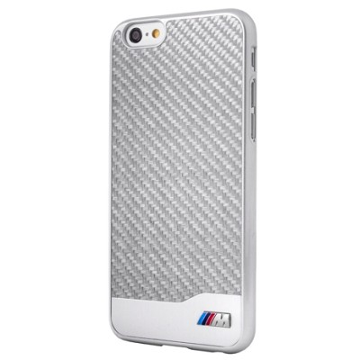 Чехол-накладка BMW M Hard Case Carbon Aluminium для iPhone 6/6S (серебристый)