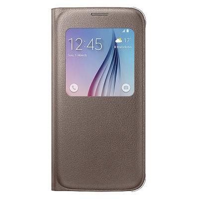 Буклет Samsung Galaxy S6 G920 S View (золотой)