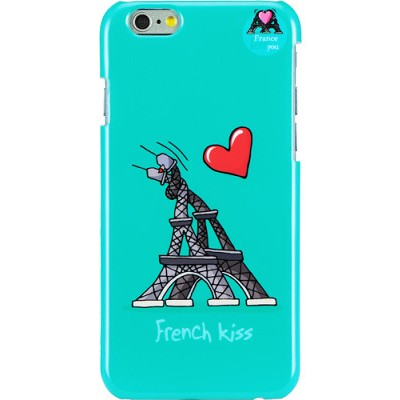 Чехол-накладка Hihihi для iPhone 6 Lacquered French Kiss (голубой)
