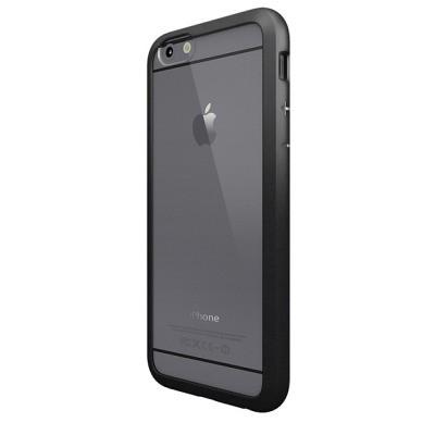 Чехол-накладка Colorant для iPhone 6/6S С1 Soft Clear (черный)