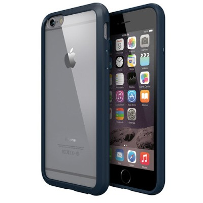 Чехол-накладка Colorant для iPhone 6/6S С1 Soft Clear (синий)