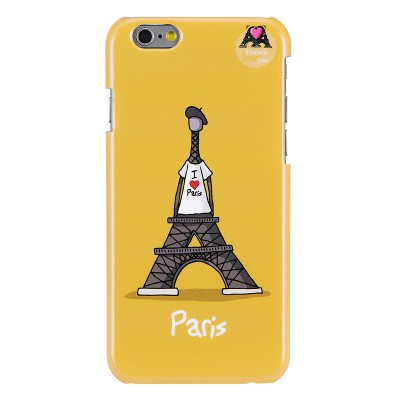 Чехол-накладка Hihihi для iPhone 6 Lacquered I love Paris (желтый)