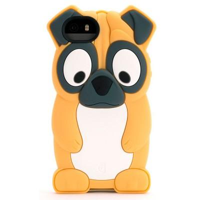 Чехол-накладка Griffin для iPhone 5/5s Kazoo Pug (бежевый)