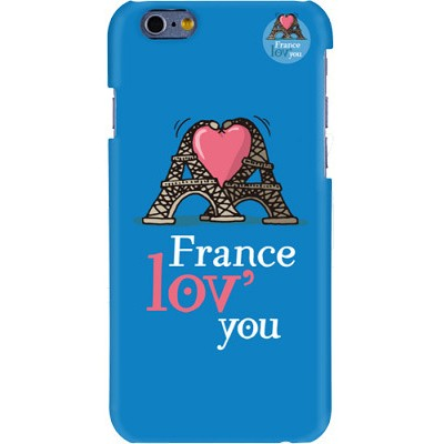 Чехол-накладка Hihihi для iPhone 6 Lacquered France love you (синий)
