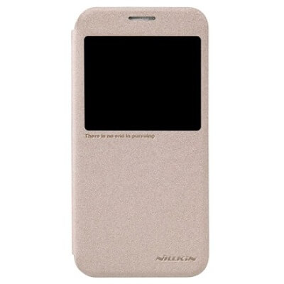 Буклет Nillkin Sparkle series для Samsung S6 G920 (золотой)