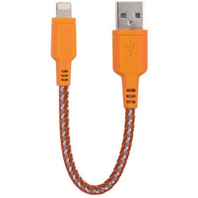 Kабель Energea NyloTouch 16cm MFI Lightning (оранжевый)