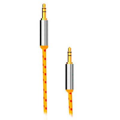 Кабель BlackBox Аудио (AUX008-1) 3.5мм-3.5мм 1.5m Плетеный yellow