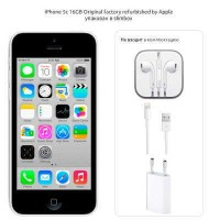 iPhone 5c 16GB (White) Original factory refurbished by Apple Slim Box