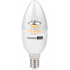 LED-лампа Canyon 6 Вт C35 150° теплый желтый свет (2700 К), прозрачная, цоколь E14 (BE14CL6W230VW)